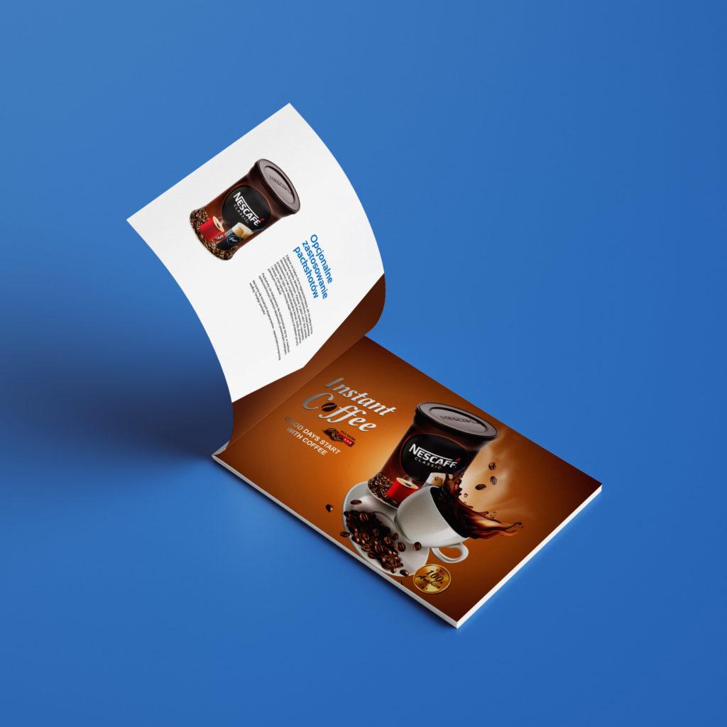 Projekt folderu reklamowego z usługami firmy fotograficznej - Wzór Studio Graficzne