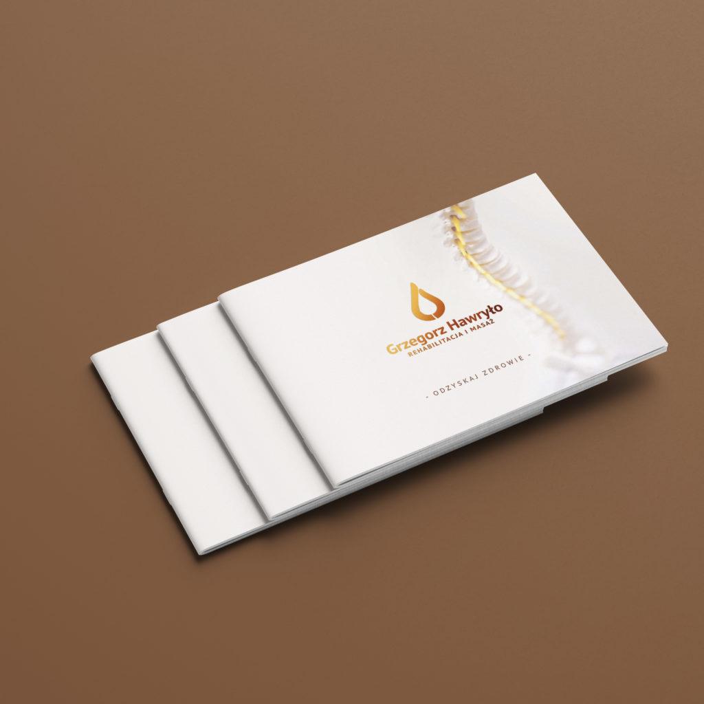 Projekt katalogu z usługami fizjoterapeuty - Studio Graficzne Wzór