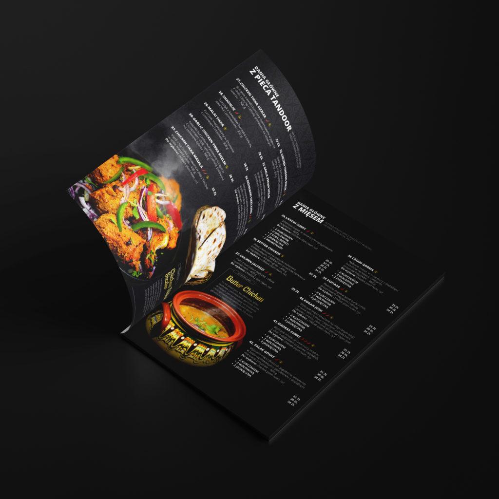 Projekt menu restauracji - Studio Graficzne Wzór