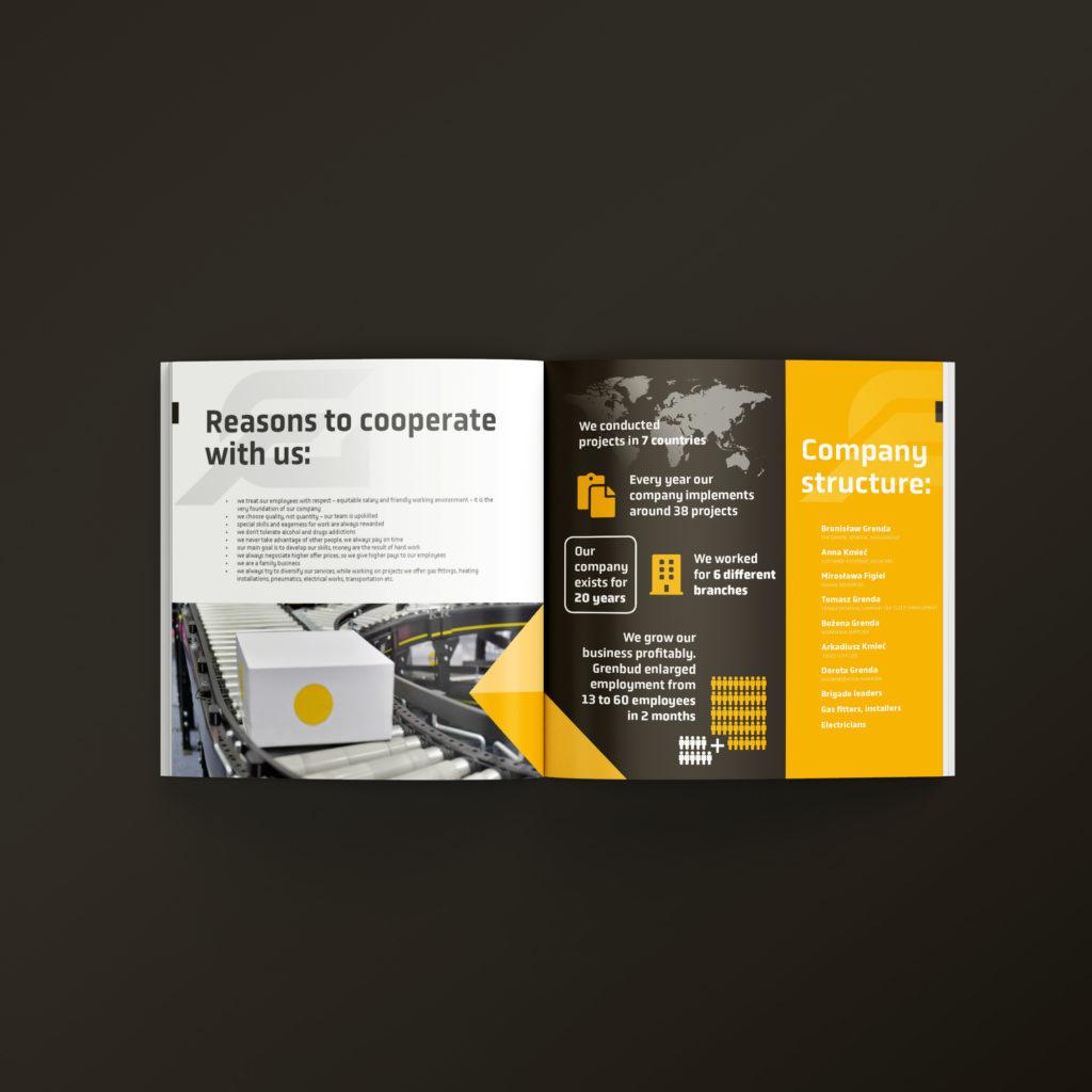 Projekt katalogu z ofertą firmy - Studio Graficzne Wzór