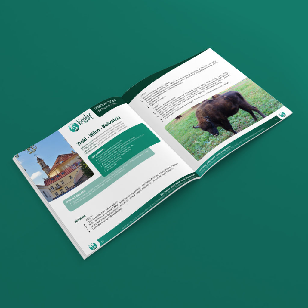 Projekt katalogu z wycieczkami - Studio Graficzne Wzór
