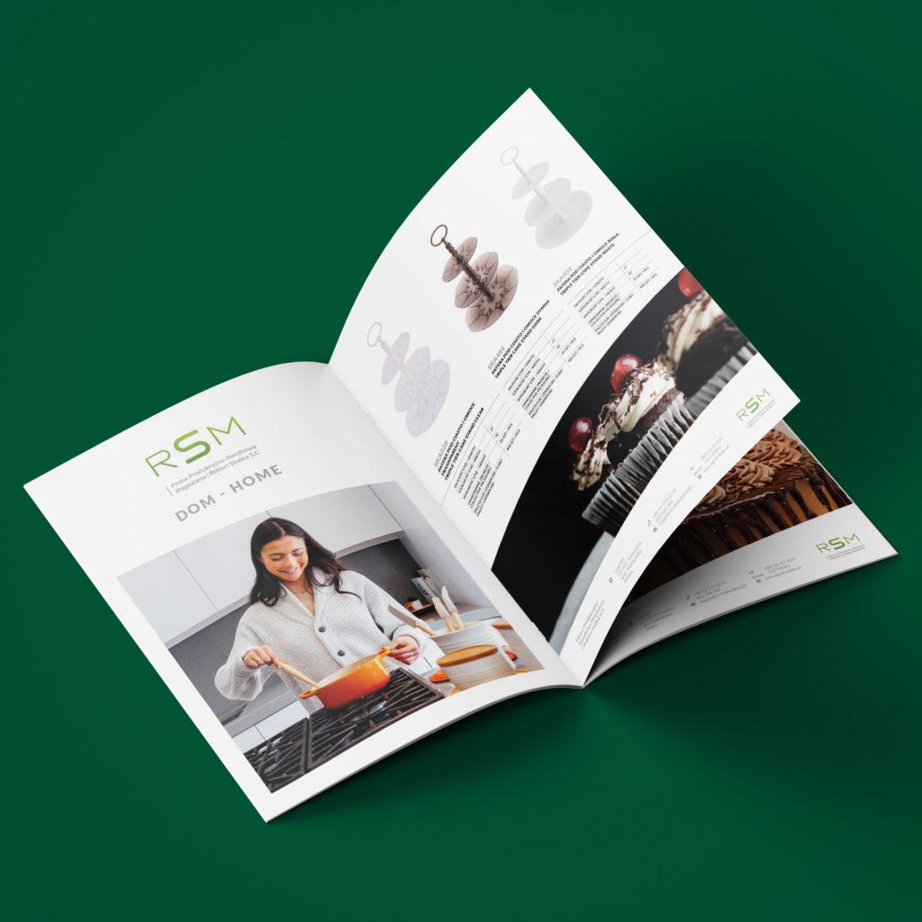 Projekt folderu reklamowego z produktami do kuchni - Studio Graficzne Wzór
