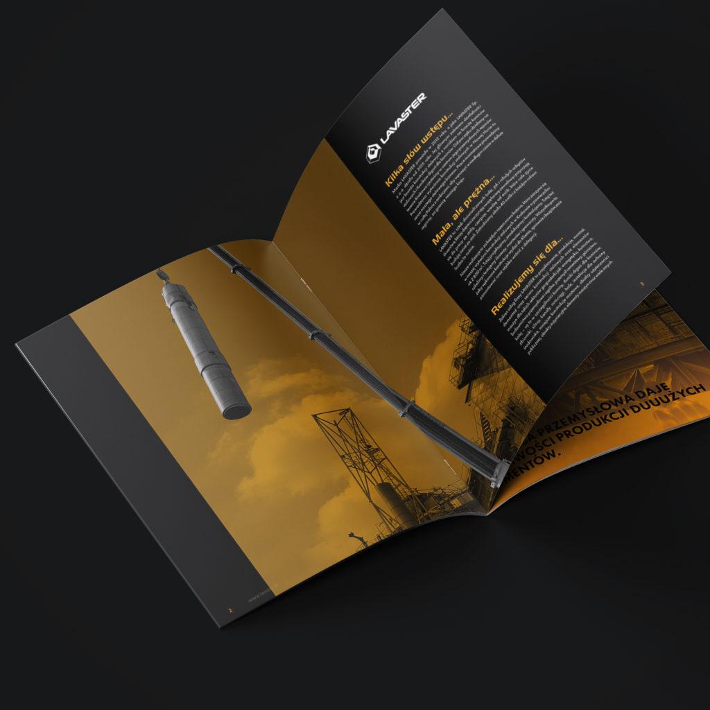 Projekt folderu reklamowego firmy budowlanej - Studio Graficzne Wzór