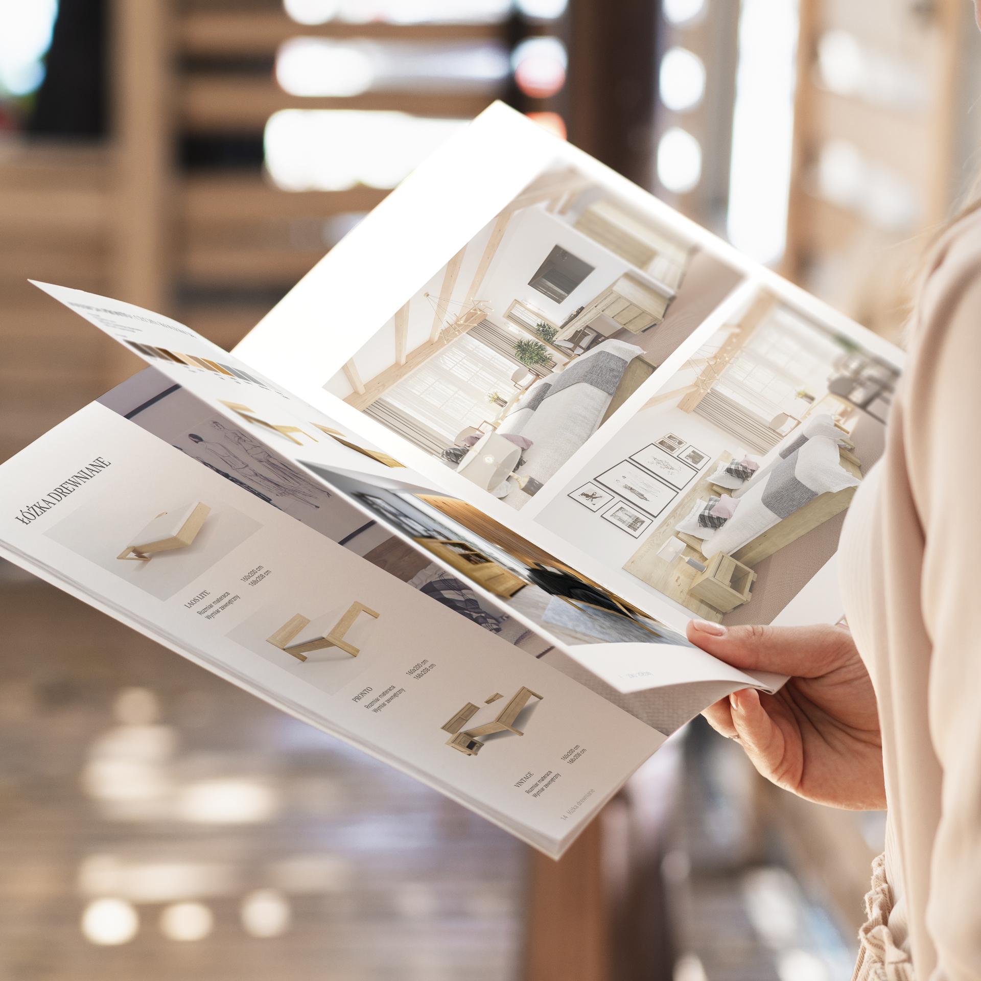 Projekt katalogu z meblami firmy Polano Meble