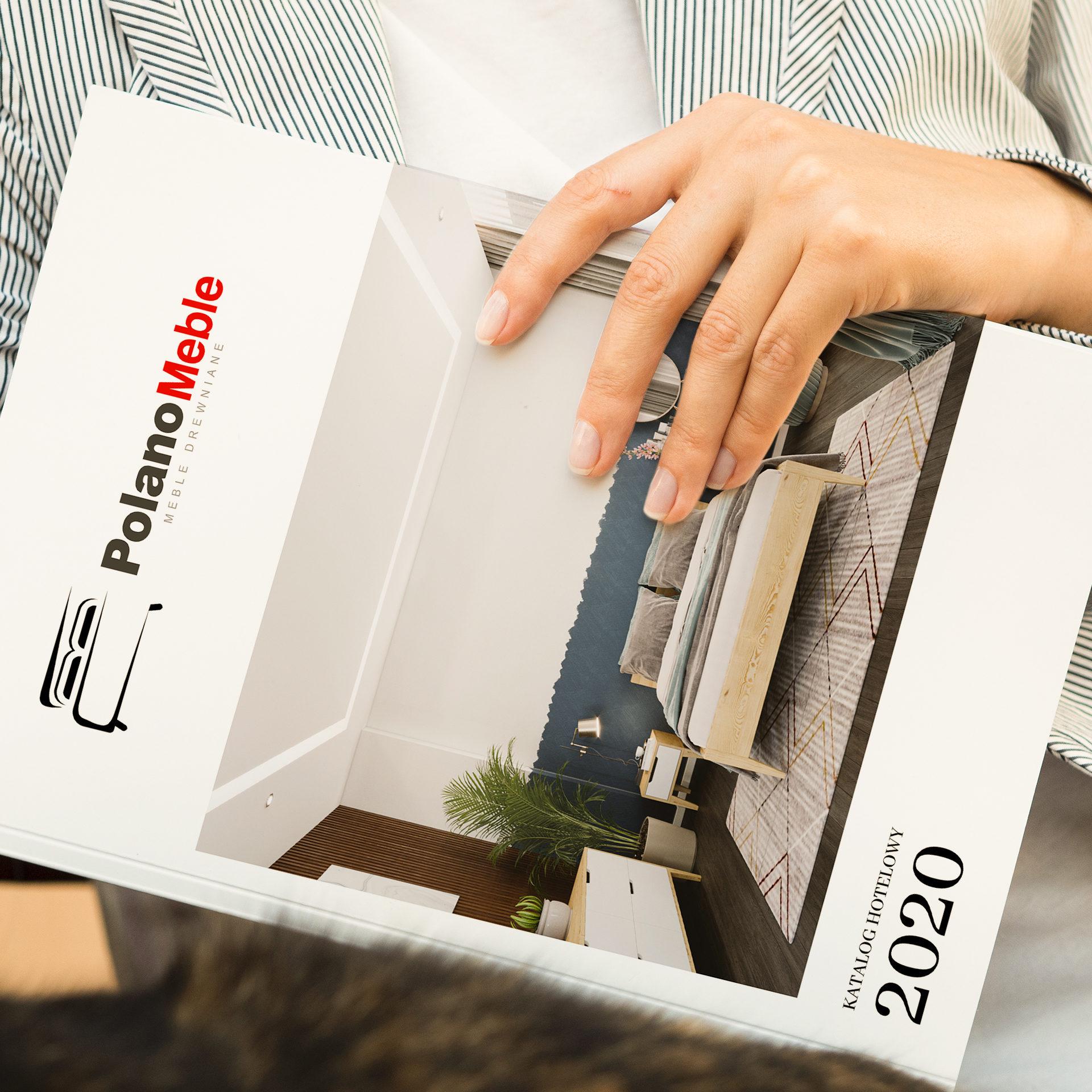 Folder Reklamowy z meblami dla firmy Polano Meble