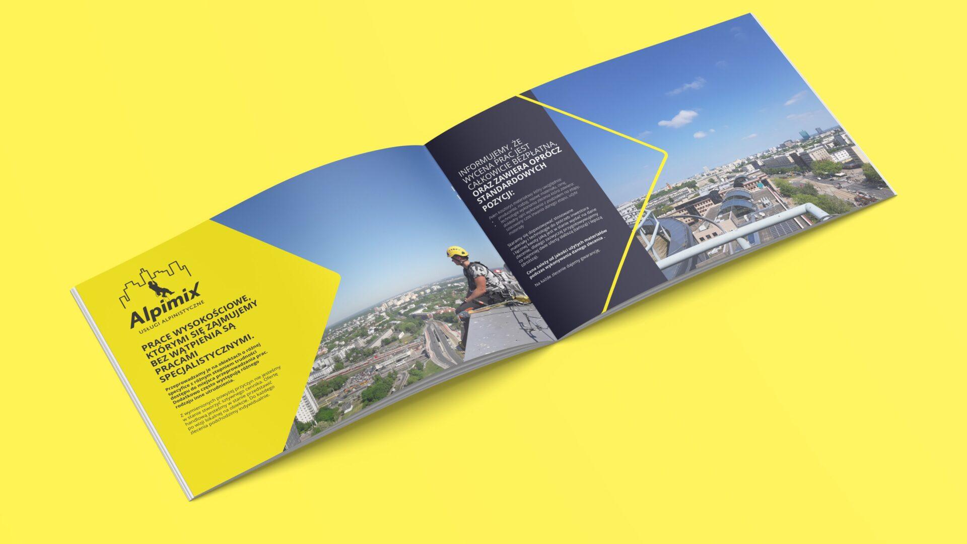 Folder reklamowy firmy Alpimix