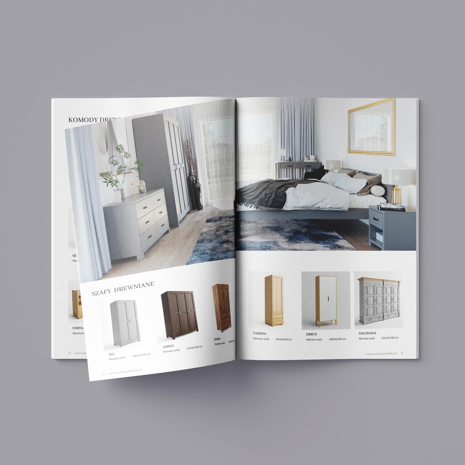 Otwraty katalog produktowy firmy Polano Meble