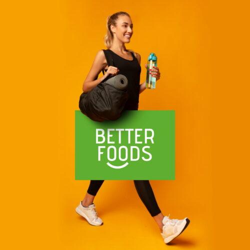 Wizualizacja logo marki Better Foods z branży spożywczej