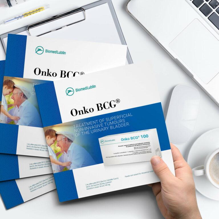 Prezentacja projektu broszur reklamowych firmy Biomed Lublin