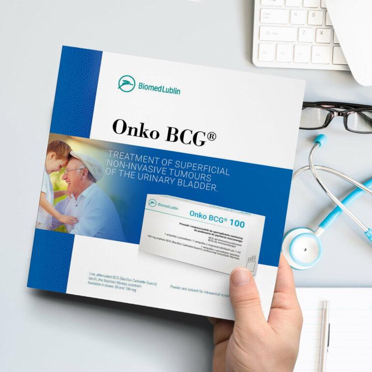 Wizualizacja projektu broszury reklamowej firmy Biomed Lublin