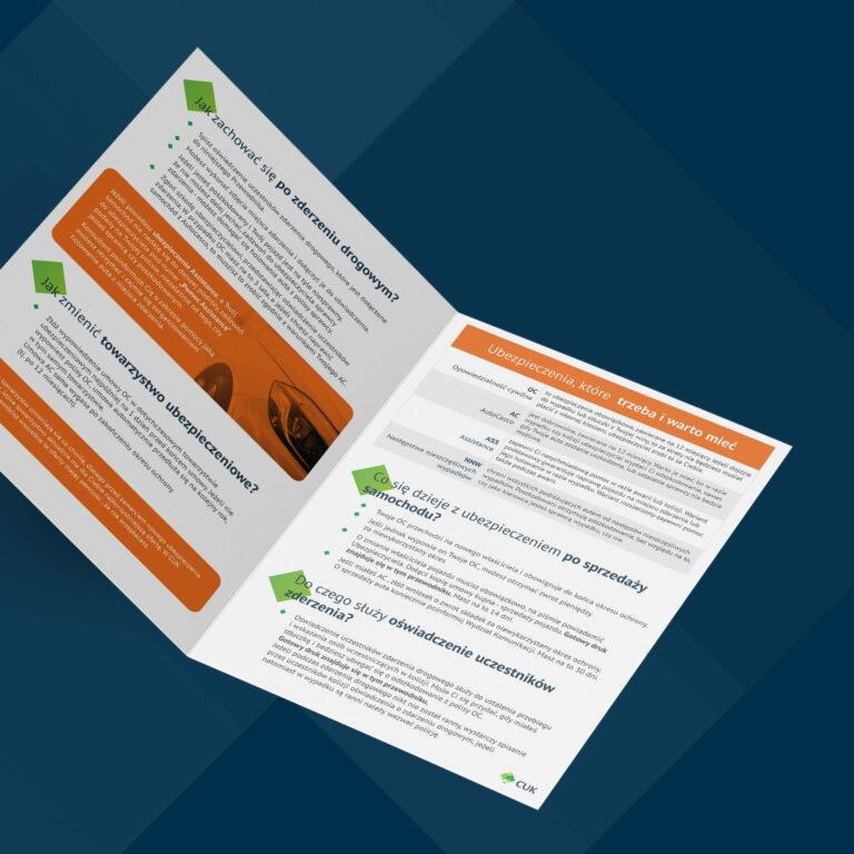 Prezentacja projektu ulotki firmy ubezpieczeniowej #cuk-ubezpieczenia