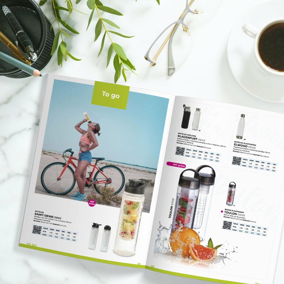 Katalog z gadżetami firmy Macma zaprojektowany przez Studio Graficzne Wzór