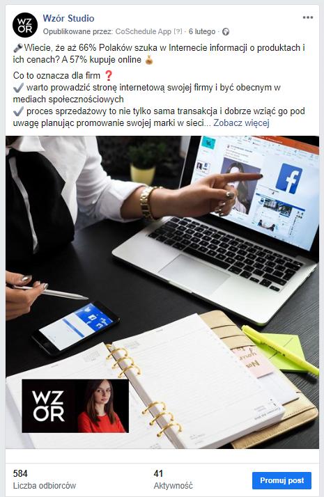 Adnotacja 2020 03 09 131457 | studio graficzne wzór | jak zaangażować użytkowników na stronie firmowej facebook - sprawdzone sposoby |