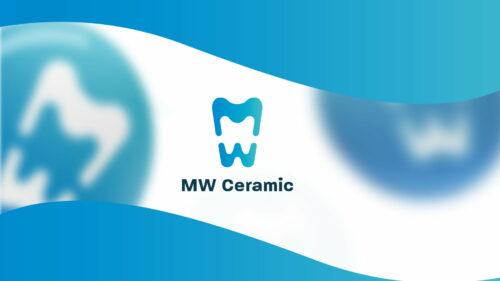 Wizualizacja logo pracowni dentystycznej MW Ceramic