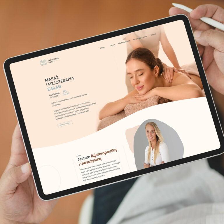 Prezentacja strony internetowej masażystki, właścicielki firmy Przystanek Masaż