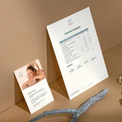 Cennik i ulotka studia masażu Przystanek Masaż