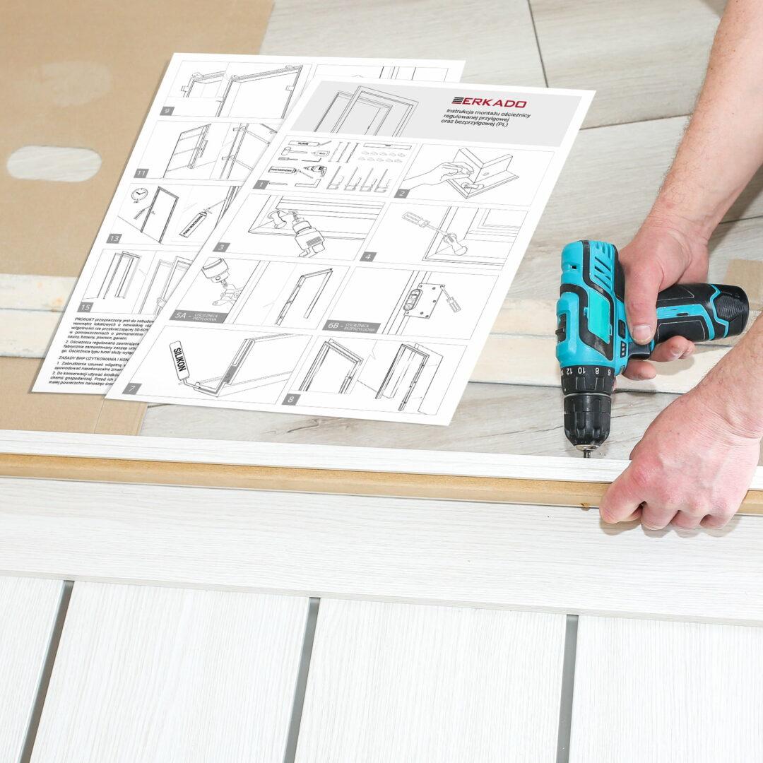 Prezentacja projektu instrukcji montażu drzwi firmy Erkado