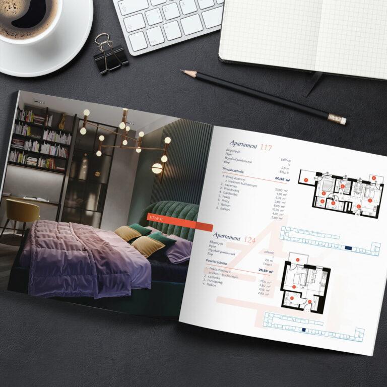 Katalog dla developera z luksusowymi mieszkaniami w Kamienicy w Łodzi