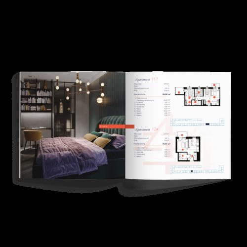 Katalog kwadratowy - Makieta - Folder reklamowy inwestycji deweloperskiej #vision-invest