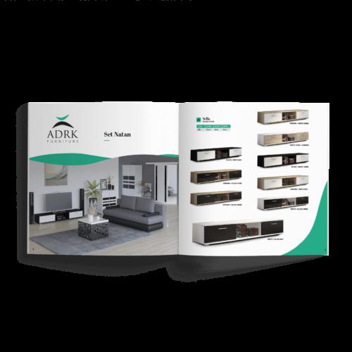 Katalog kwadratowy - Makieta - Katalog producenta mebli- folder reklamowy, broszura #adrk-furniture