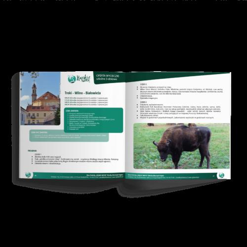 Katalog kwadratowy - Makieta - Katalog wycieczek - folder reklamowy, broszura #rajskie-wrota