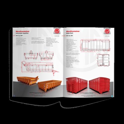Katalog pionowy - Makieta - Katalog produktów producenta kontenerów #amg