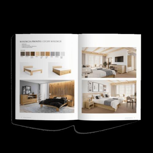 Katalog pionowy - Makieta - Katalog produktowy - folder reklamowy, broszura #polanomeble