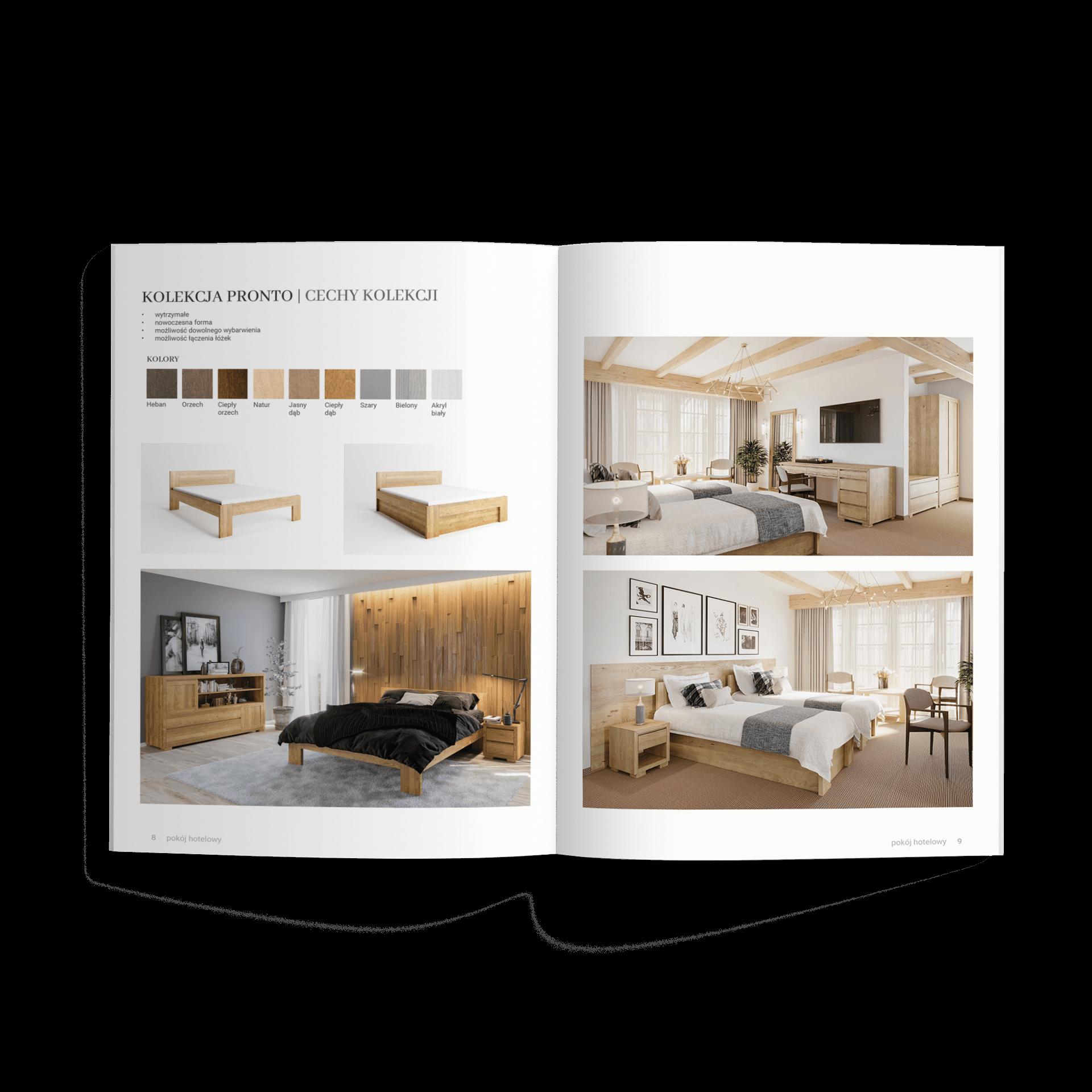Katalog pionowy makieta katalog produktowy folder reklamowy broszura polanomeble | studio graficzne wzór | jak zrobić folder reklamowy? Łatwa instrukcja dla marketingowca |