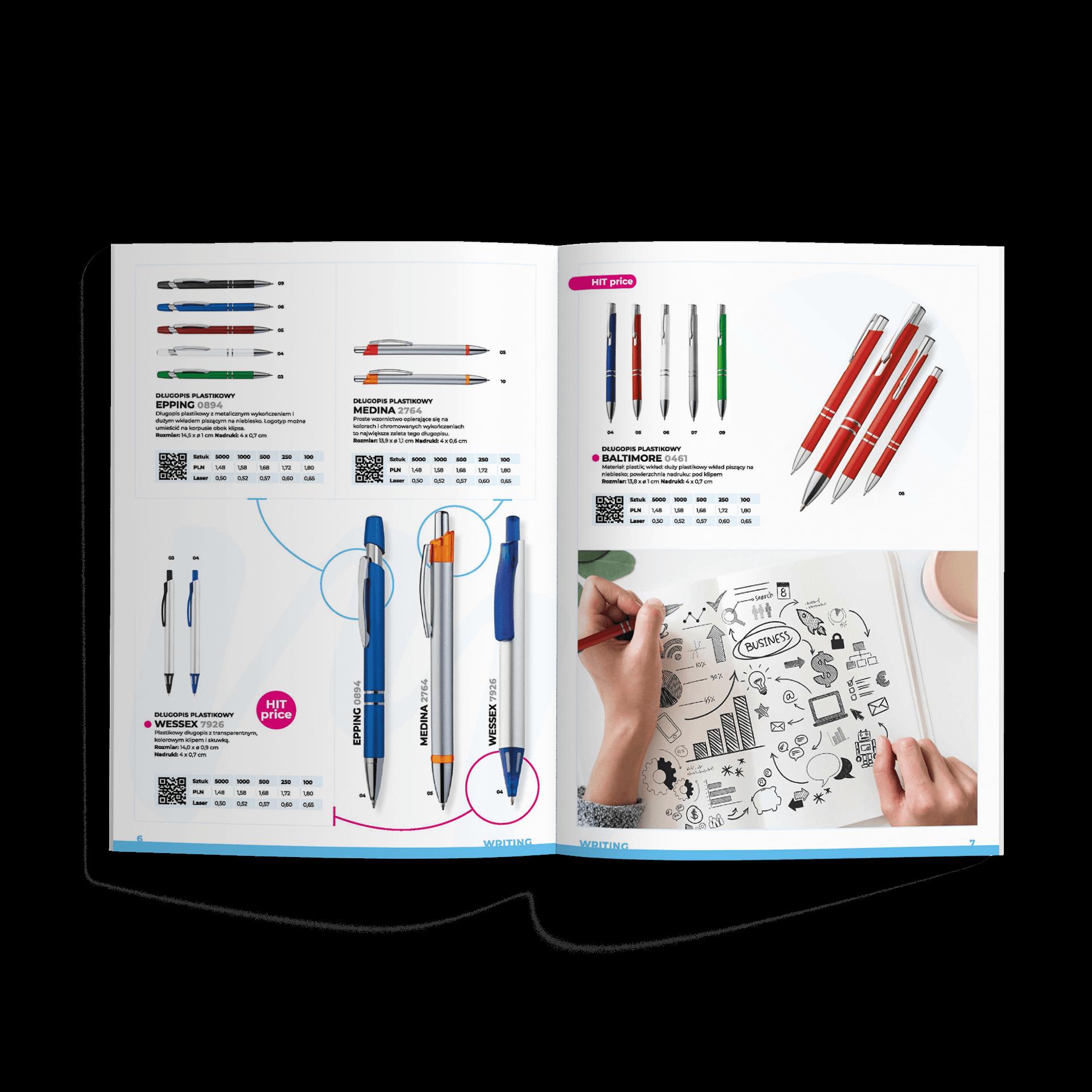 Katalog pionowy makieta katalog produktowy z gadzetami macma | studio graficzne wzór | jak zrobić katalog produktowy? Kompletny poradnik marketingowca |