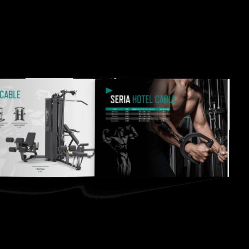 Katalog poziomy - Makieta - Katalog produktowy ze sprzętem do siłowni #iron-fitness