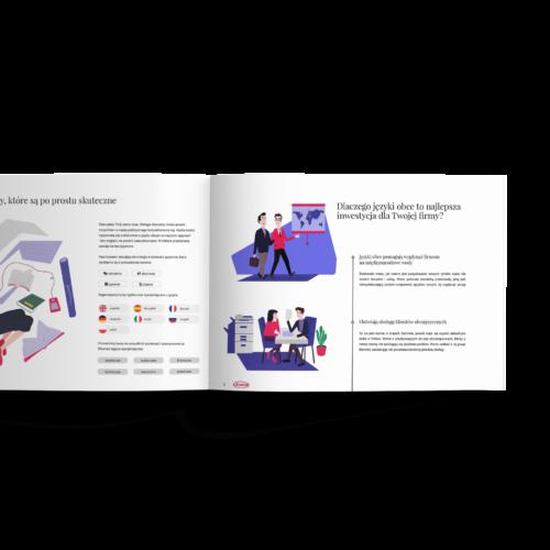 Katalog poziomy2 - Makieta -Folder reklamowy szkoły językowej #avalon