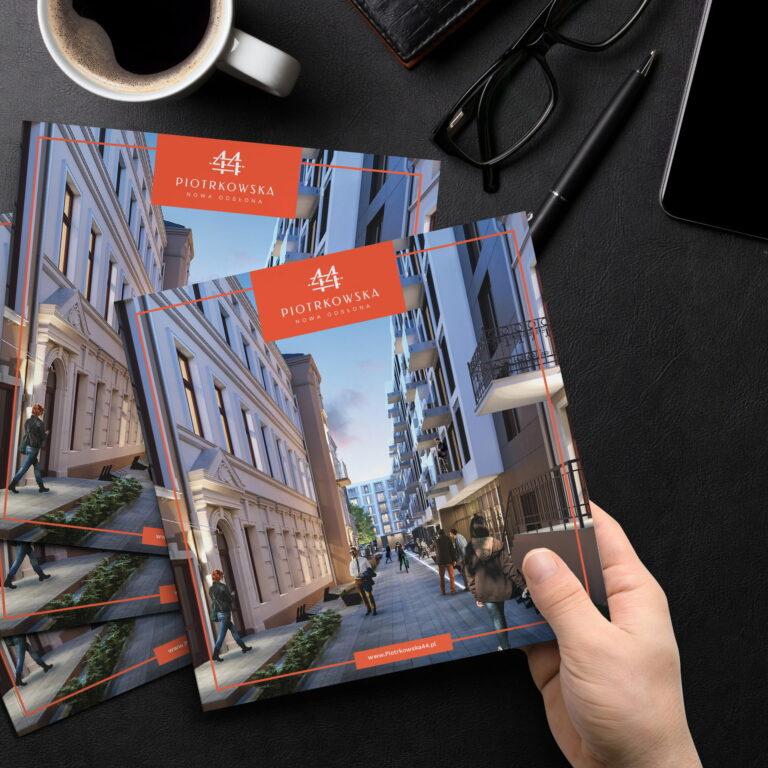 Prezentacja projektu folderu reklamowego inwestycji deweloperskiej firmy Vision Invest