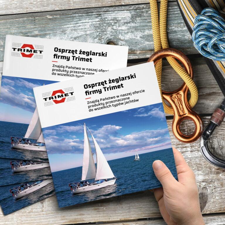 Katalogi z osprzętem żeglarskim firmy Trimet