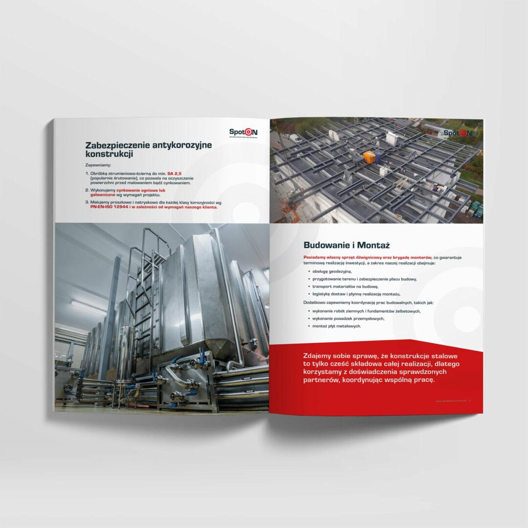 Projekt graficzny katalogu materiałów budowlanych firmy Spot-On