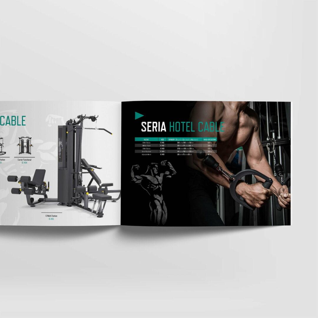 Projekt katalogu ze sprzętem dla siłowni Iron Fitness