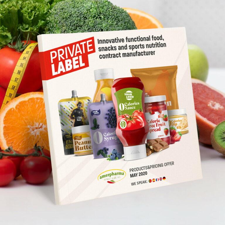 Katalog produktowy firmy spożywczej Amerpharma
