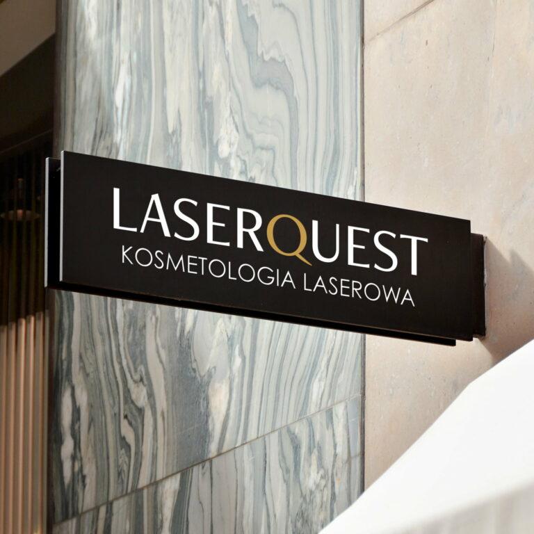 Baner z projektem graficznym logo kosmetologa LaserQuest