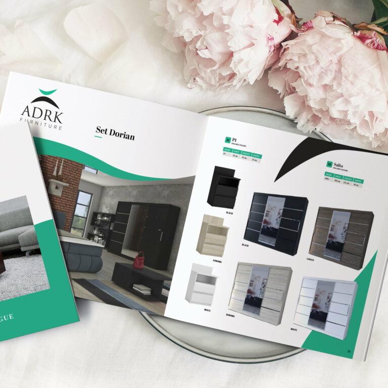Prezentacja projektu katalogu z meblami ADRK Furniture