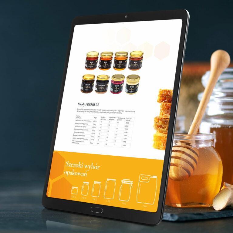 Wersja elektroniczna katalogu producenta miodu Apimar