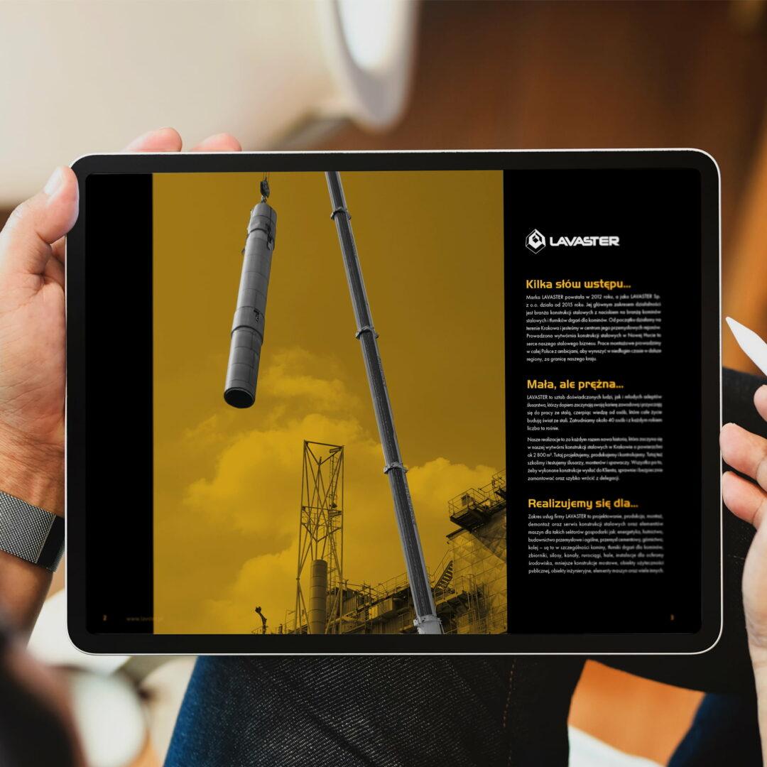 Wersja mobilna katalogu działającej w branży stalowej firmy Lavaster