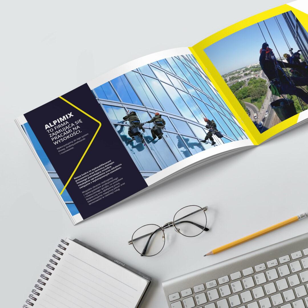 Wizualizacja projektu katalogu z usługami firmy Alpimix