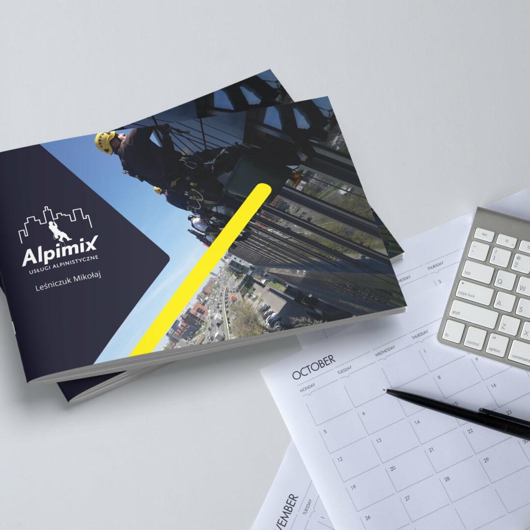 Foldry reklamowe z usługami firmy Alpimix