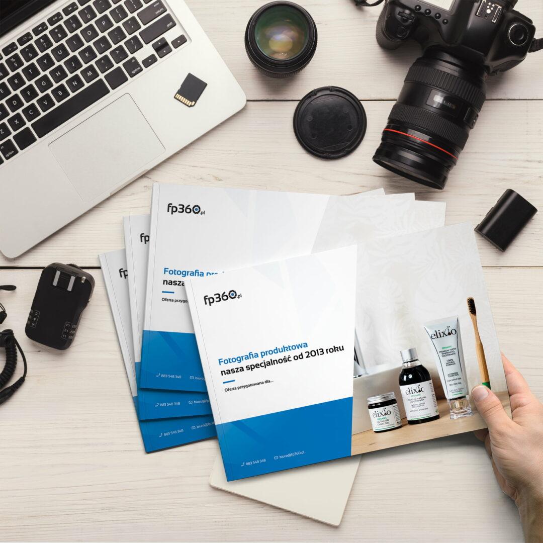 Foldery reklamowe studia fotograficznego fp360 w wykonaniu Studia Graficznego Wzór