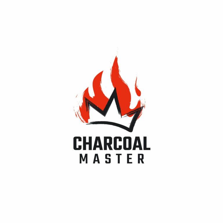 Projekt logo węgla drzewnego Charcoal Master