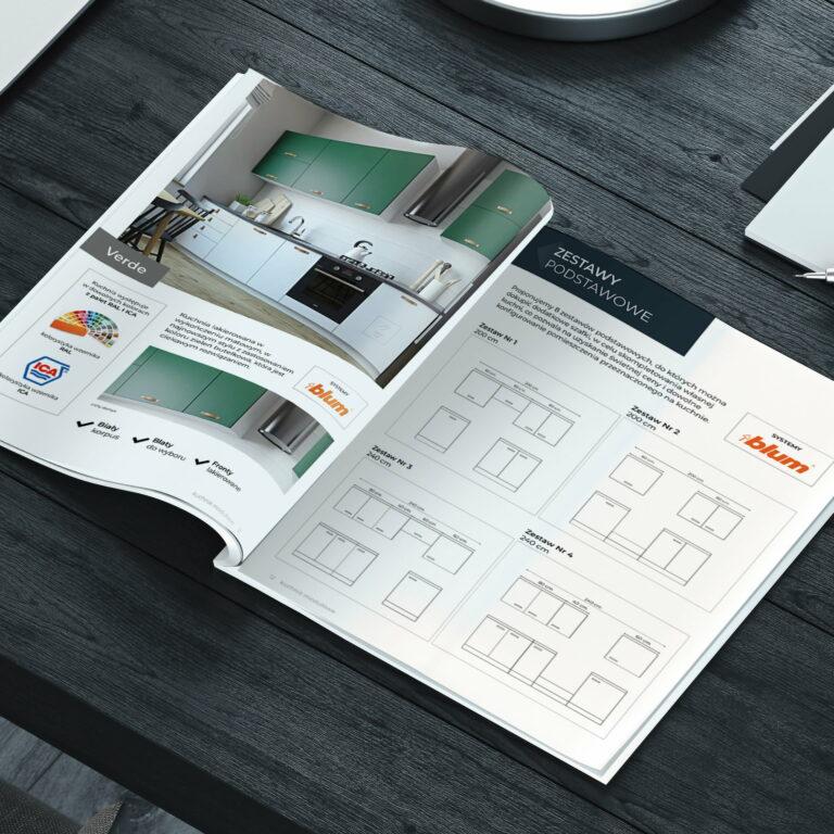 Projekt katalogu mebli kuchennych marki Meblo Architektura