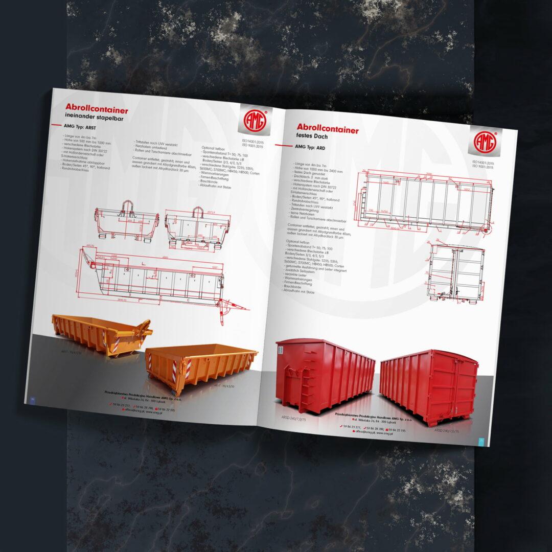 Prezentacja projektu katalogu produktowego z kontenerami #amg