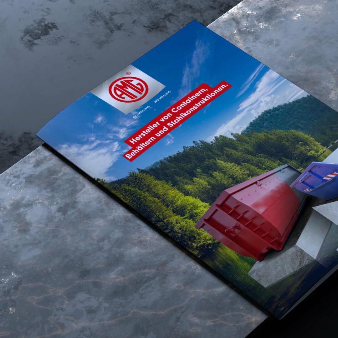Wizualizacja okładki katalogu produktowego z kontenerami #amg