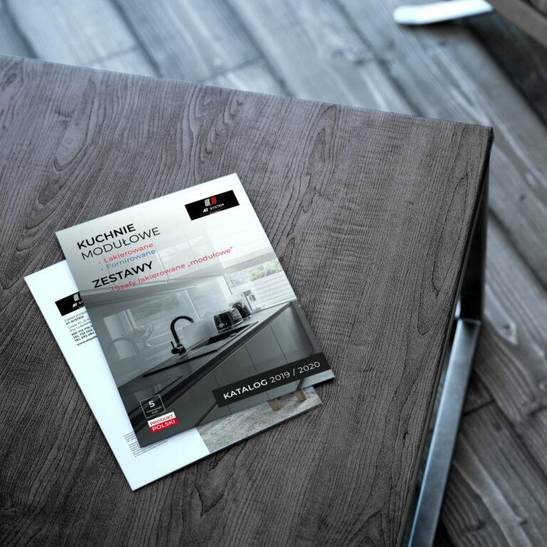Prezentacja projektu okładki katalogu z meblami kuchennymi Meblo Architektura