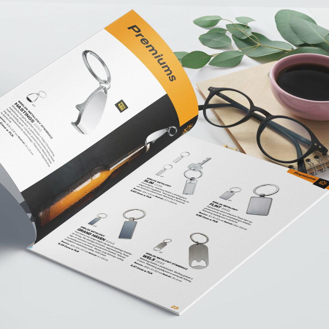 Projekt graficzny katalogu z ofertą gadżetów #macma