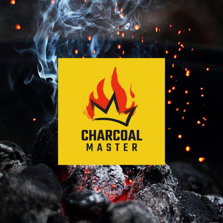 Wizualizacja projektu logo firmy Charcoal Master, która sprzedaje węgiel drzewny
